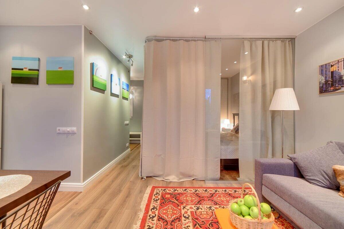 этом фото красивого оформления однокомнатной квартиры решила попробовать фоне