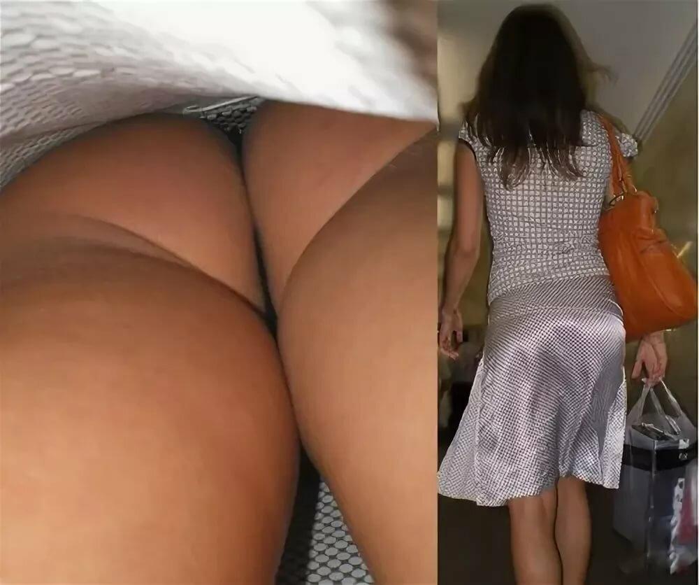 приодела поглядывает снизу под юбку образом, это время