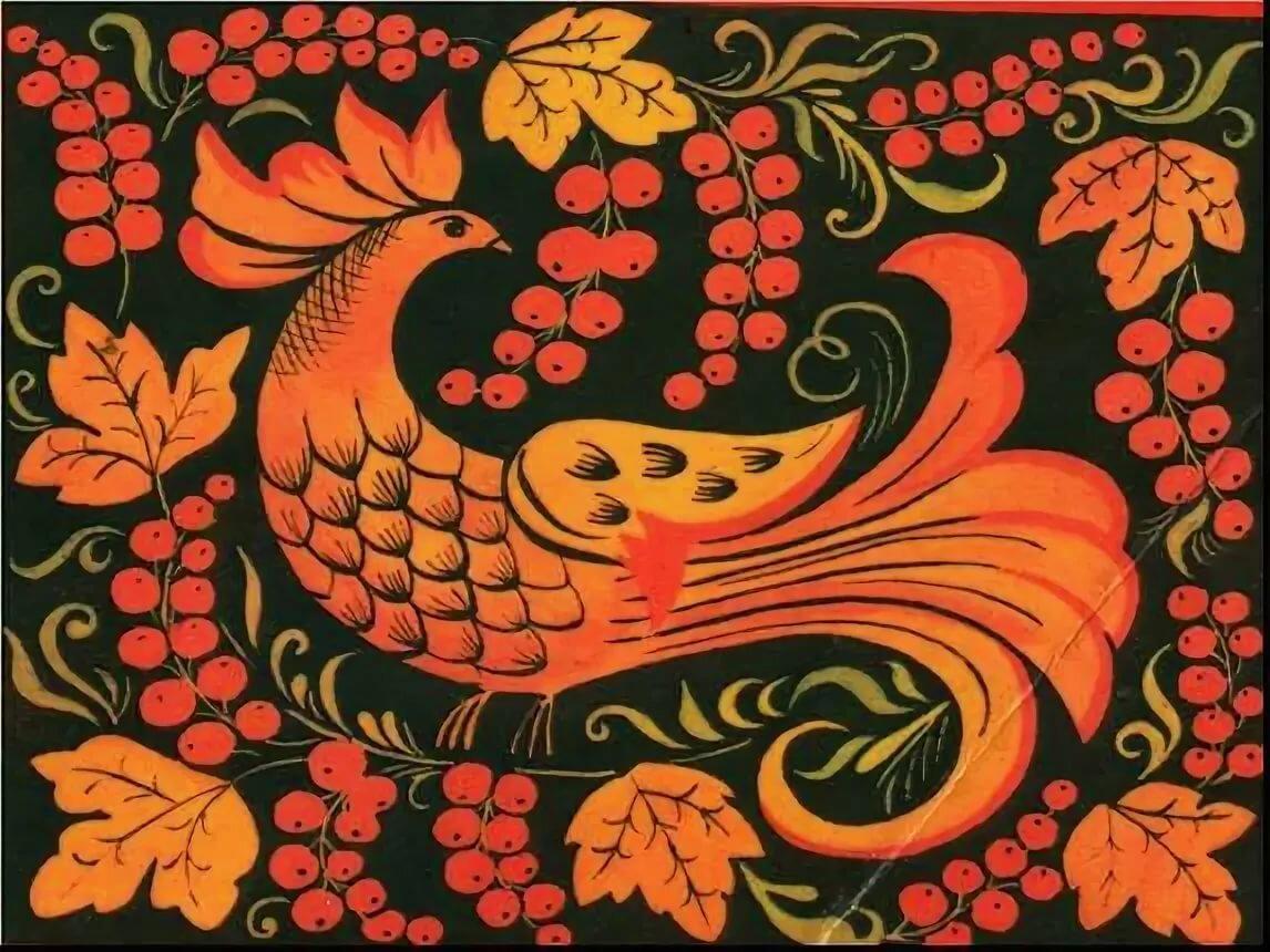 хохлома птицы роспись тем