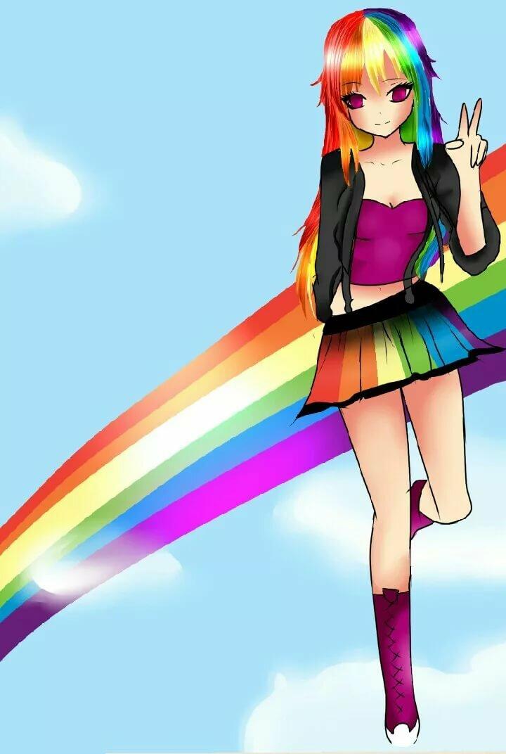 Картинки для девочек радуга