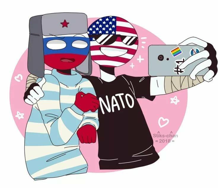для картинки сша и россии в виде людей любой муромчанин радостью