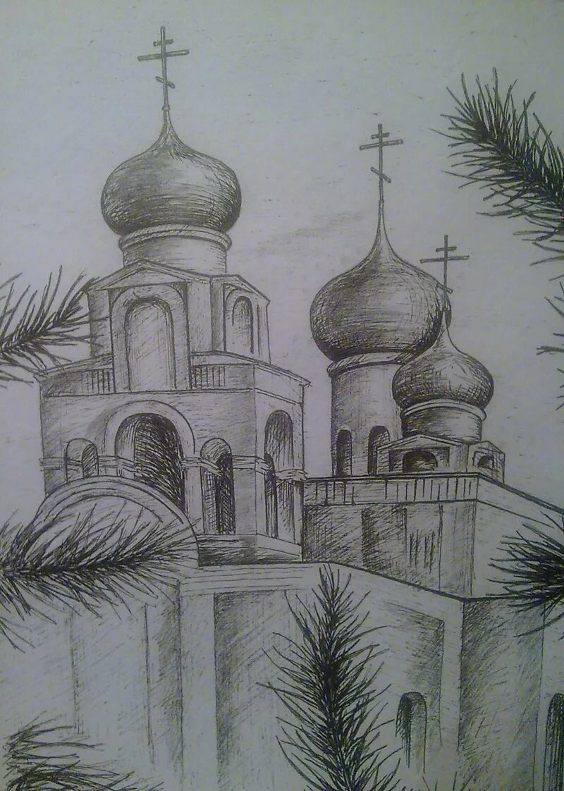 Картинки или рисунки церкви
