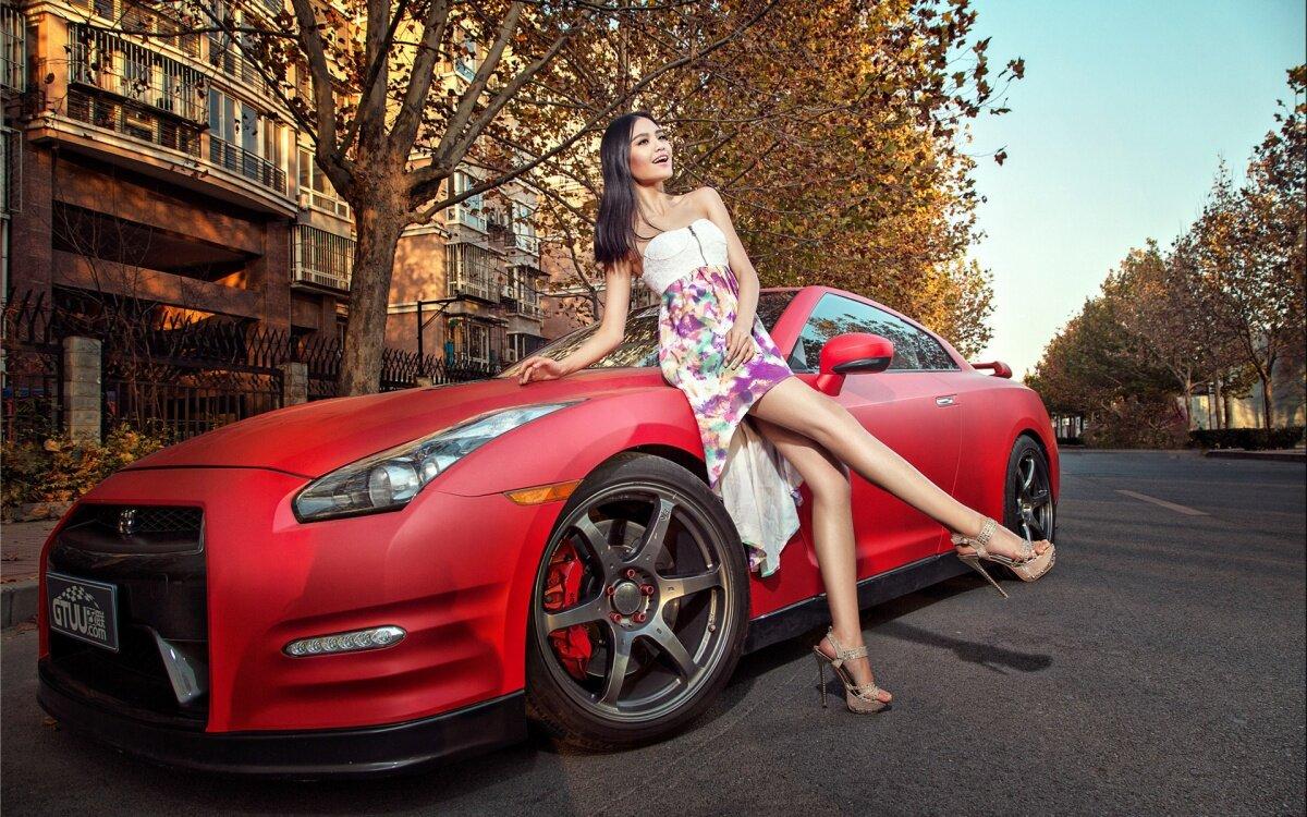 Картинки с девушками красивыми и машины
