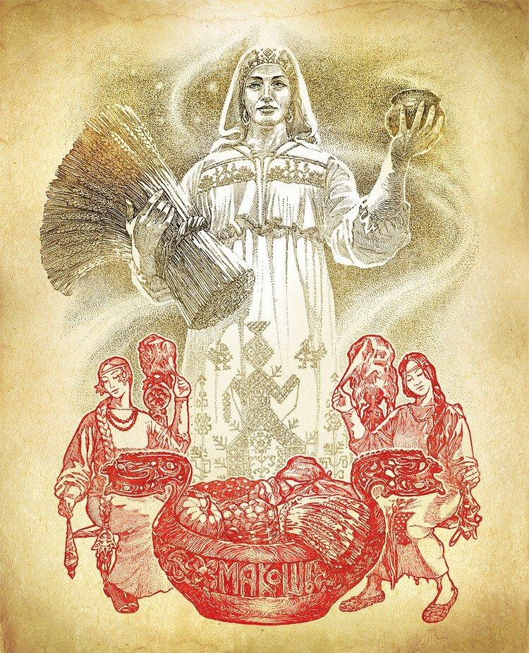мгновение заморозив, славянские боги рисунки с именами освежить знания