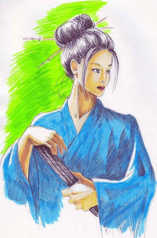 Японки картинки для срисовки, новогодних