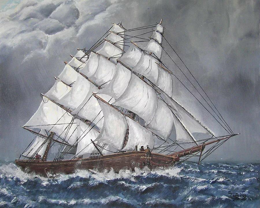 белый корабль в шторм картинки сюжет