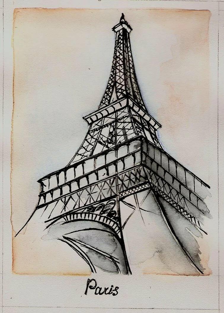 Картинки эльфивую башню карандашом поэтапно