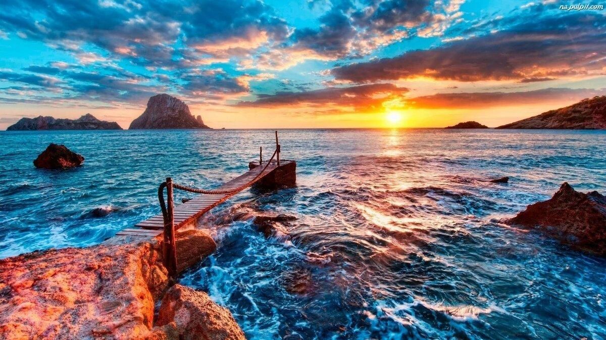 Морской пейзаж картинки для рабочего стола