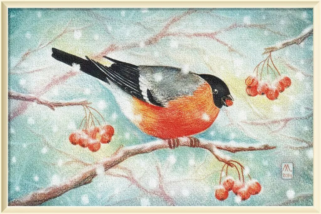 Снегирь открытка для детей, годовщиной свадьбы лет