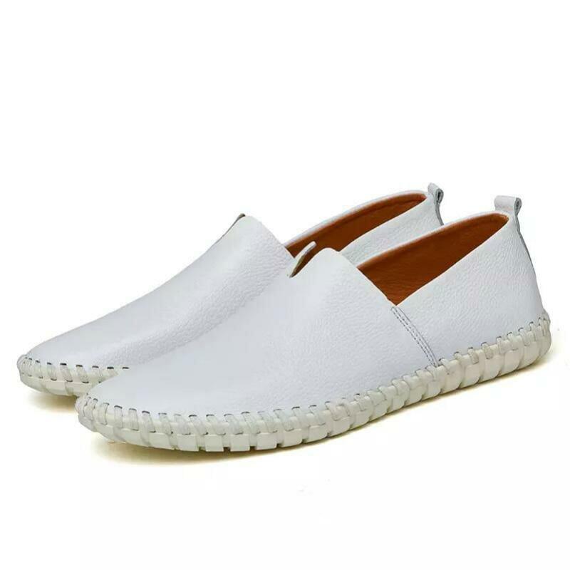1f0dd73bd ... Мужская обувь для взрослых Модные Лоферы без шнуровки Мужская обувь  2018 Весенне-летняя мужская повседневная