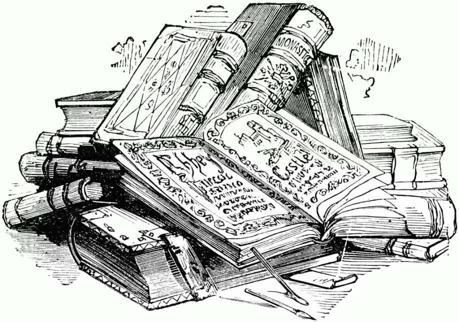 картинки литературы карандашом пазлов