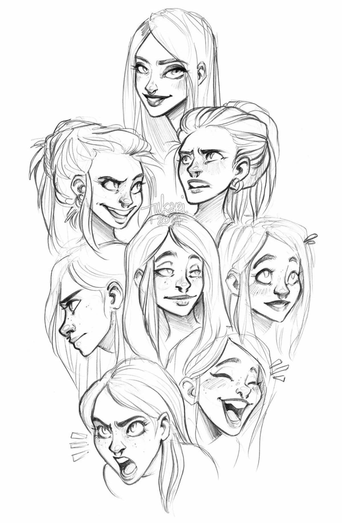 Рисунки эмоции человека