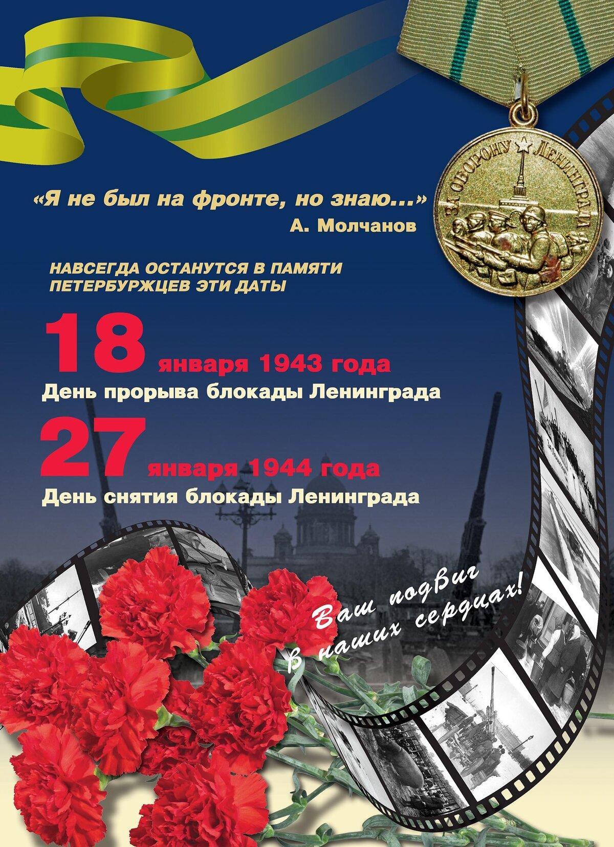 Поздравление ко дню снятия блокады ленинграда для ветеранов