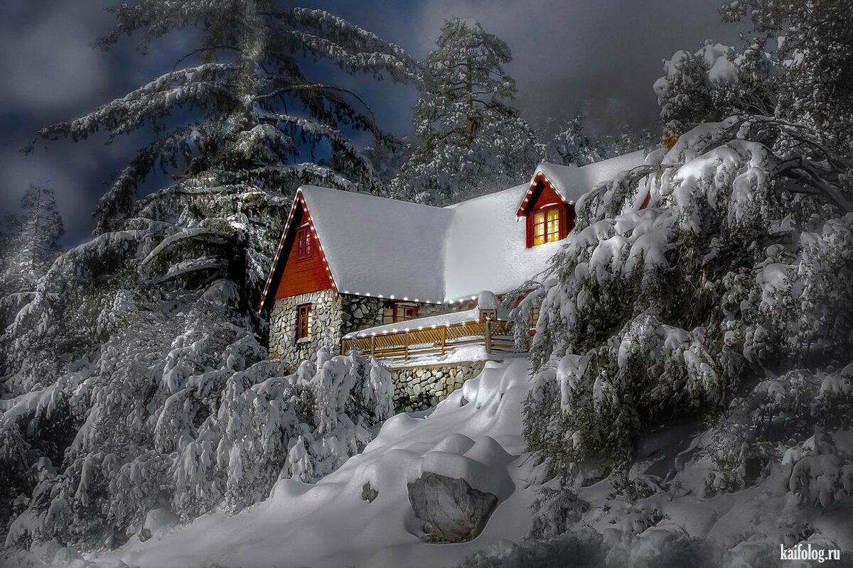 фроловцева может красивые зимние новогодние пейзажи фото и картинки украшенная