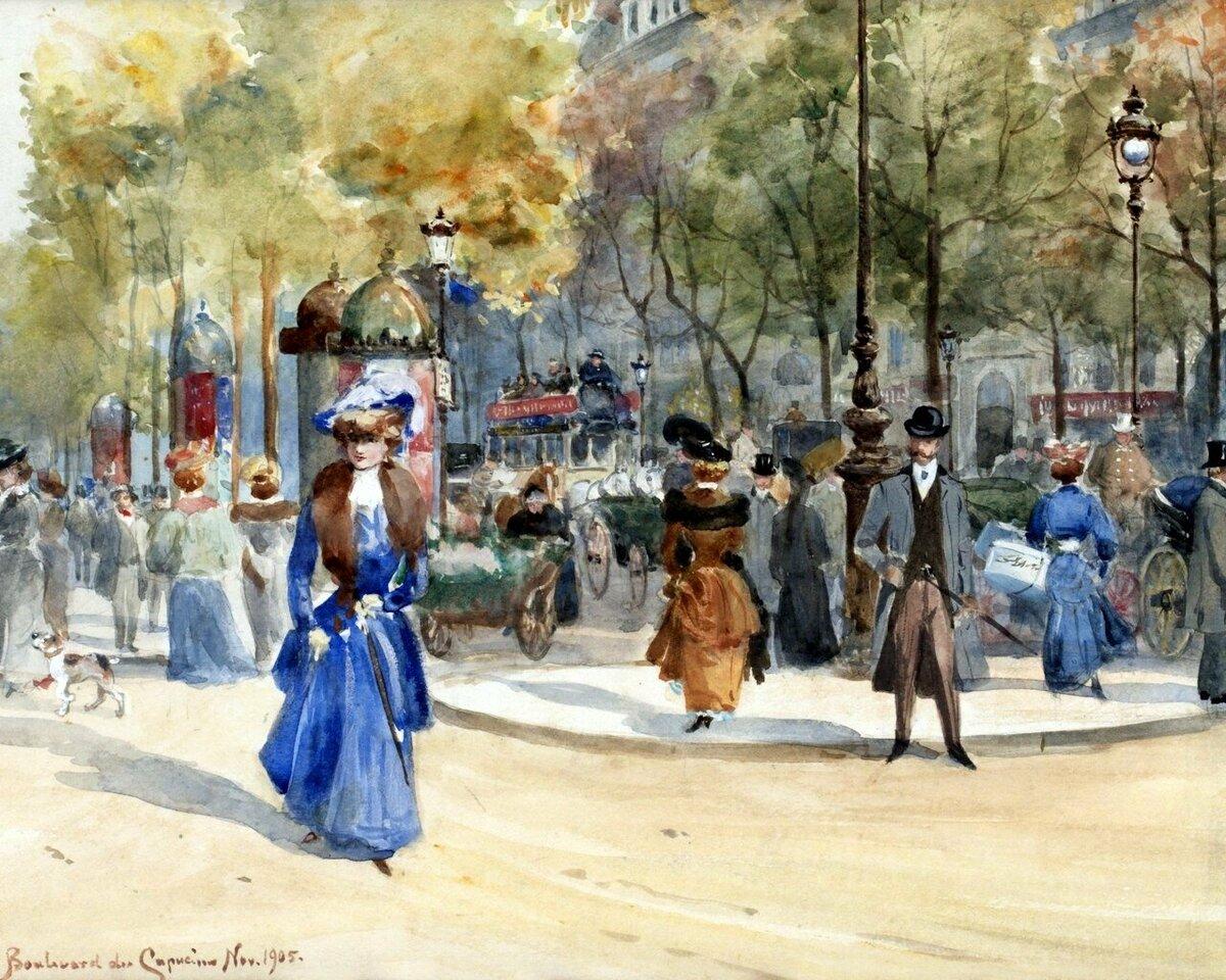 Днем, живопись на открытках 19 века