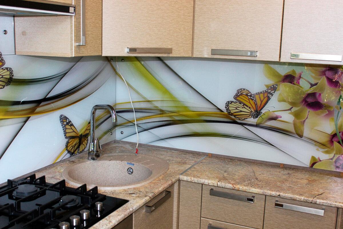Картинки стеклянного фартука для кухни