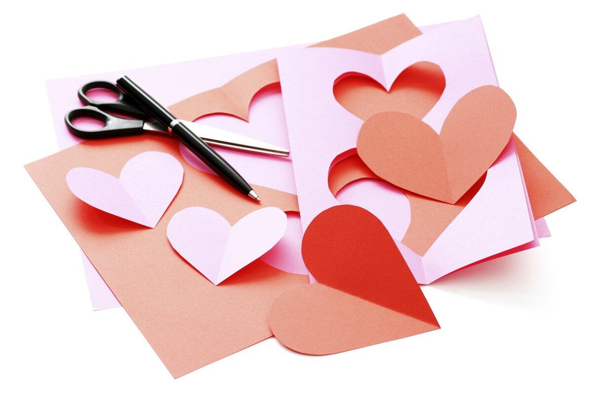 Валентинка открытка как сделать