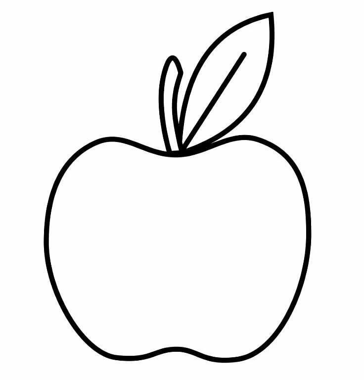 Яблочки картинки шаблон