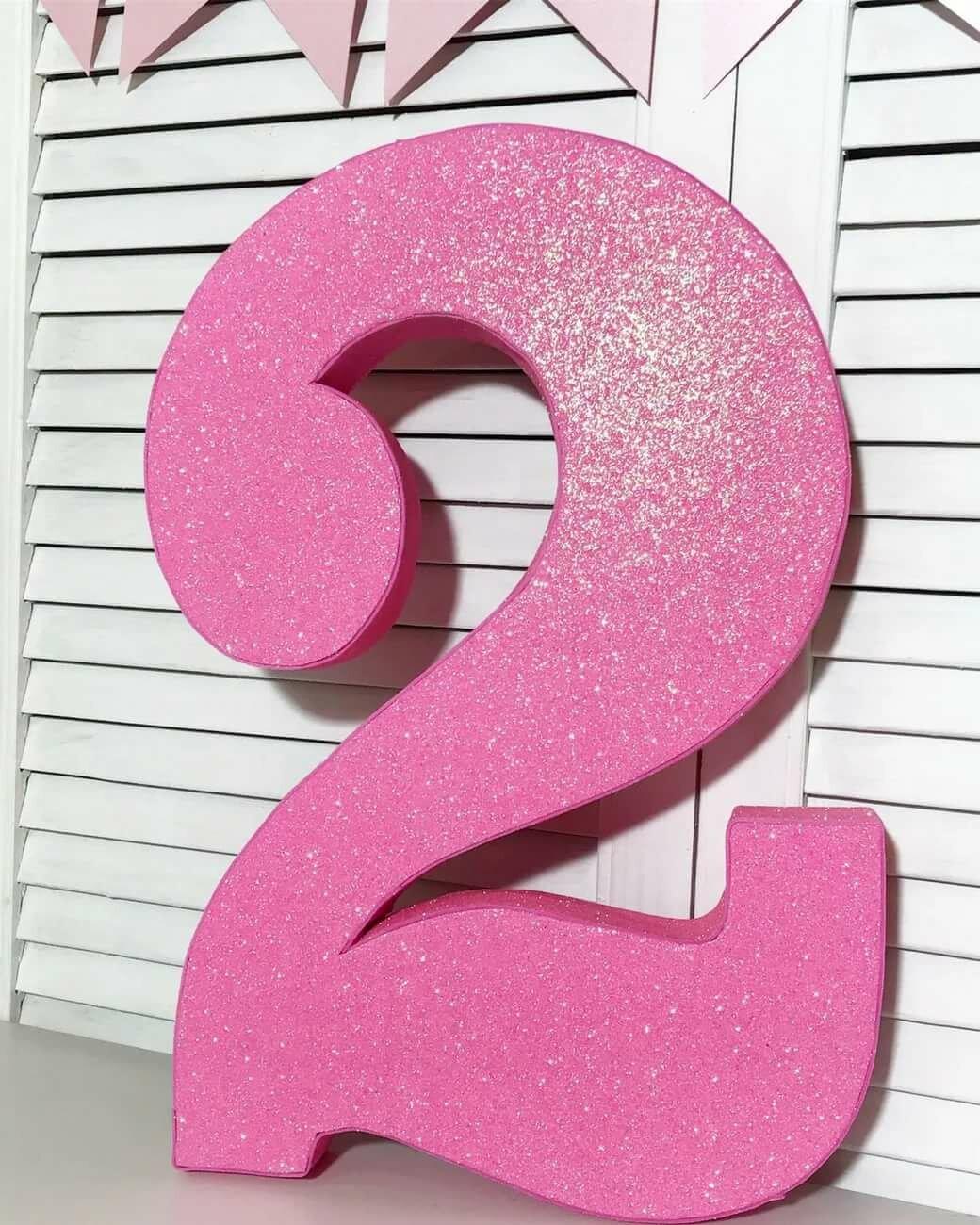 Днем рождения, цифра 3 как открытка