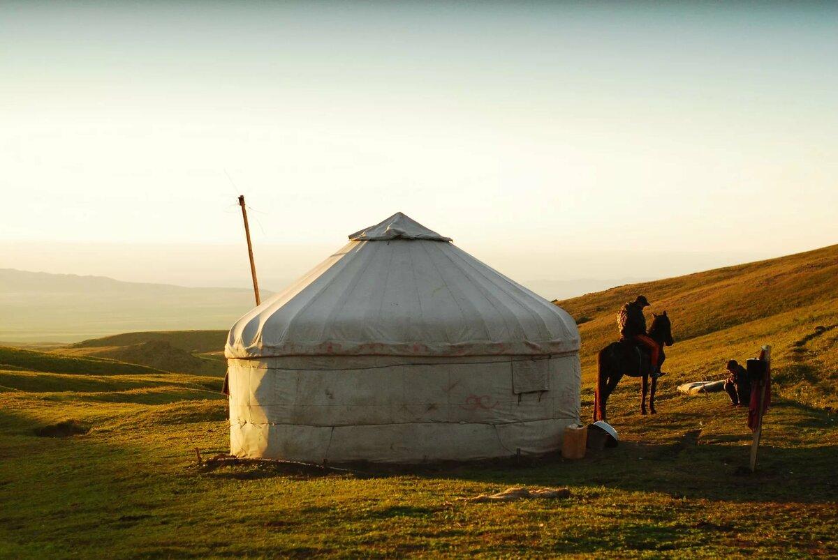 картинки юрта казахстан