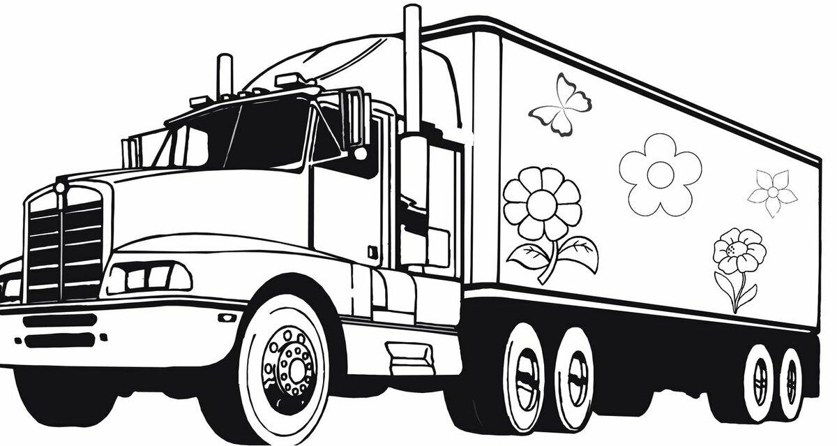 Картинки грузовиков черно белые