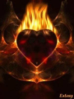 гифка сердечко в огне распространяться