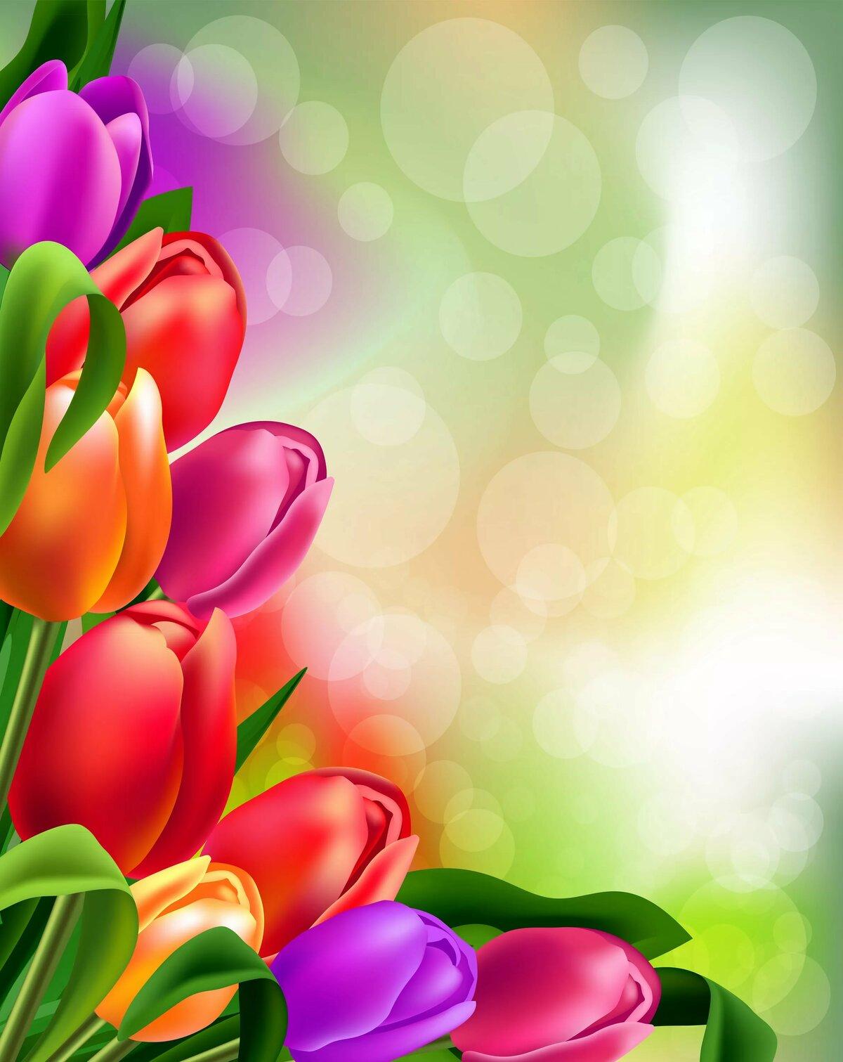 Фоновая картинка для поздравления с 8 марта