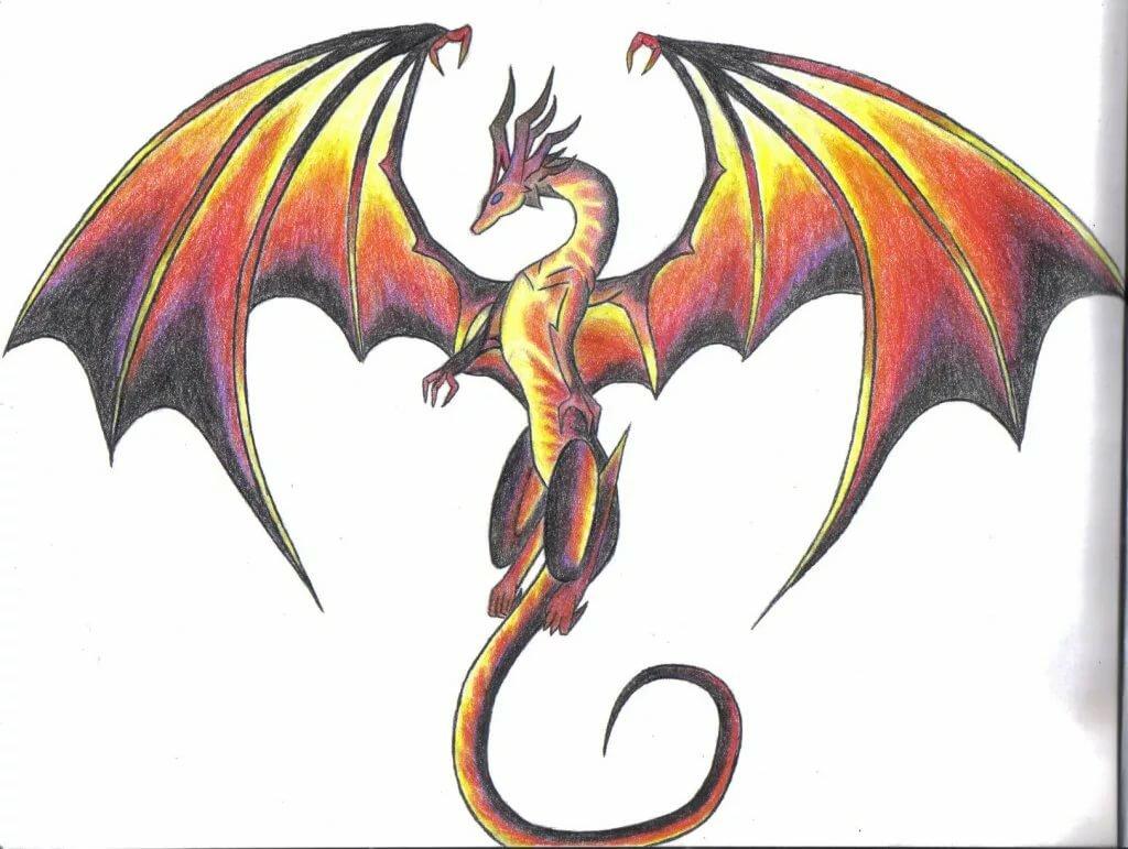 свою картинки драконов простых постараемся