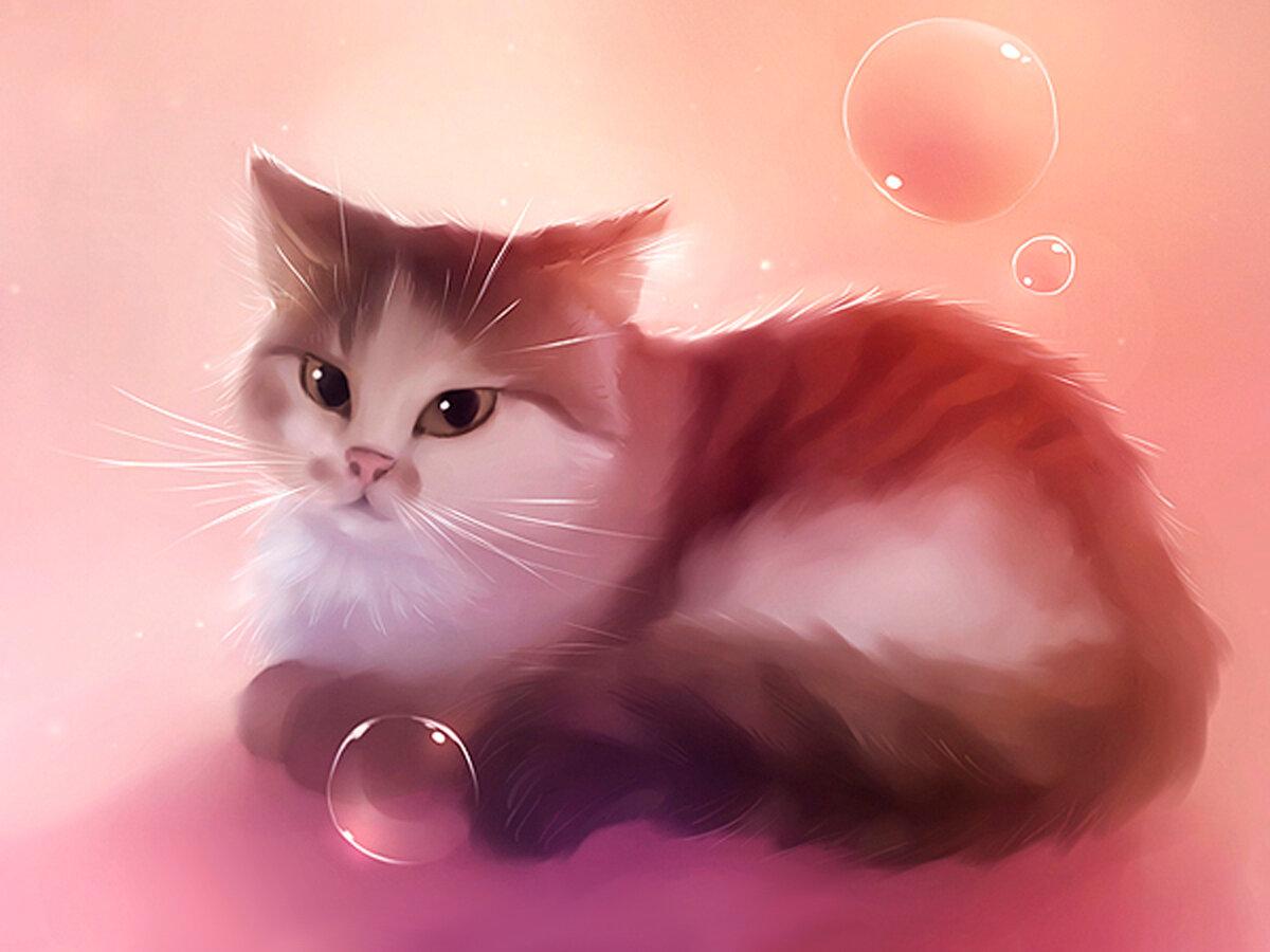 Картинки, картинки кошки рисунки красивые
