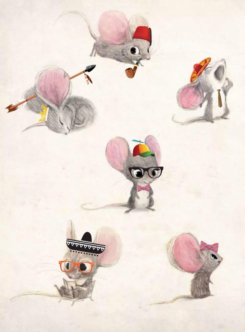Картинки крысок милых рисованные