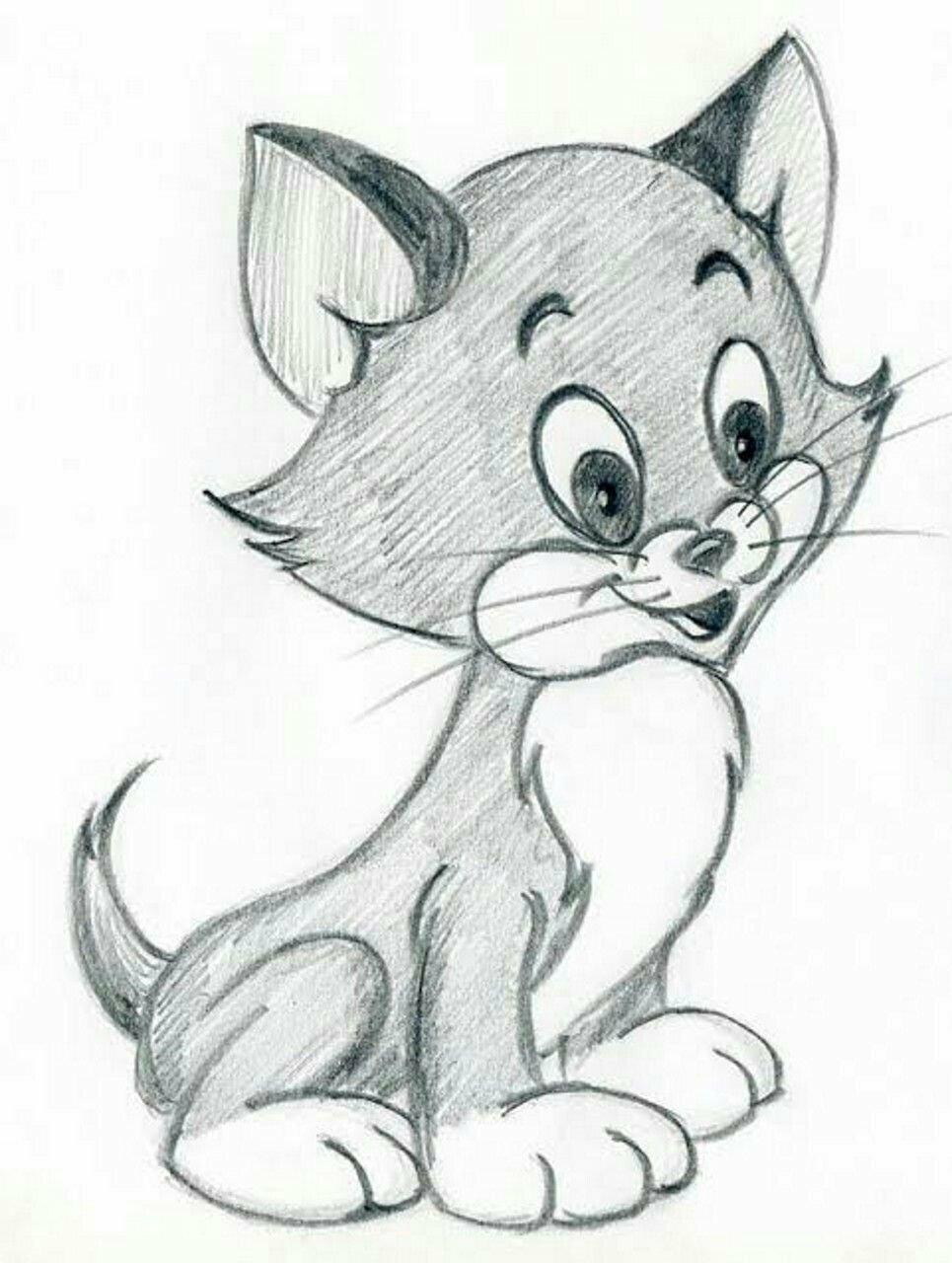 Прикольные рисунки животных карандашом для детей, день рождения внучке