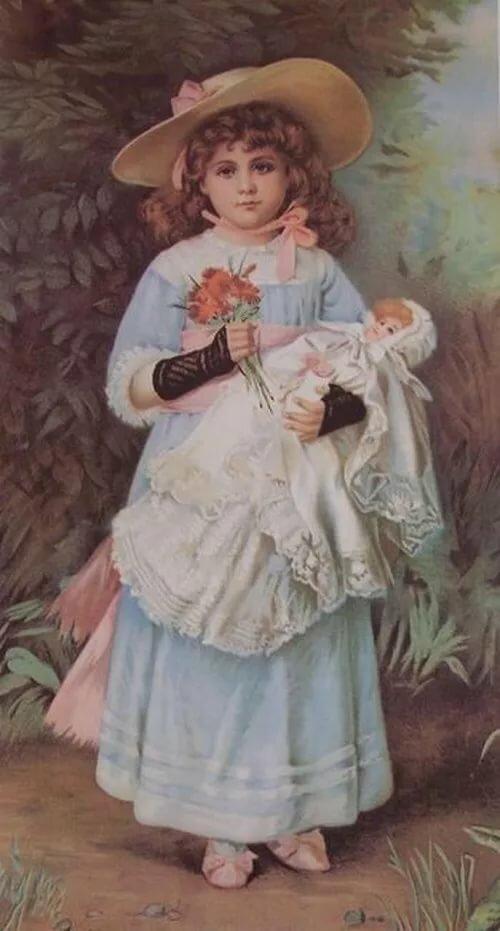 Картинки, старинные рисованные открытки фото