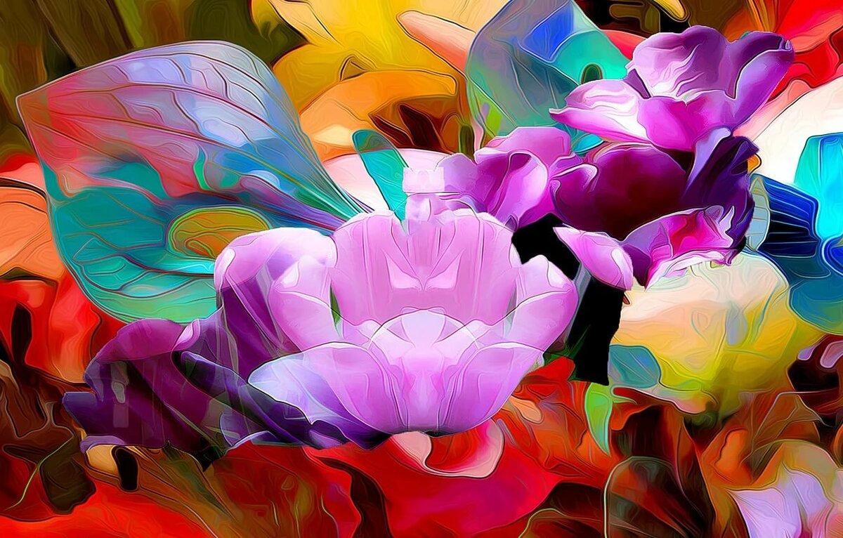 стоит картинки фантазийных цветов вместе ними забежал
