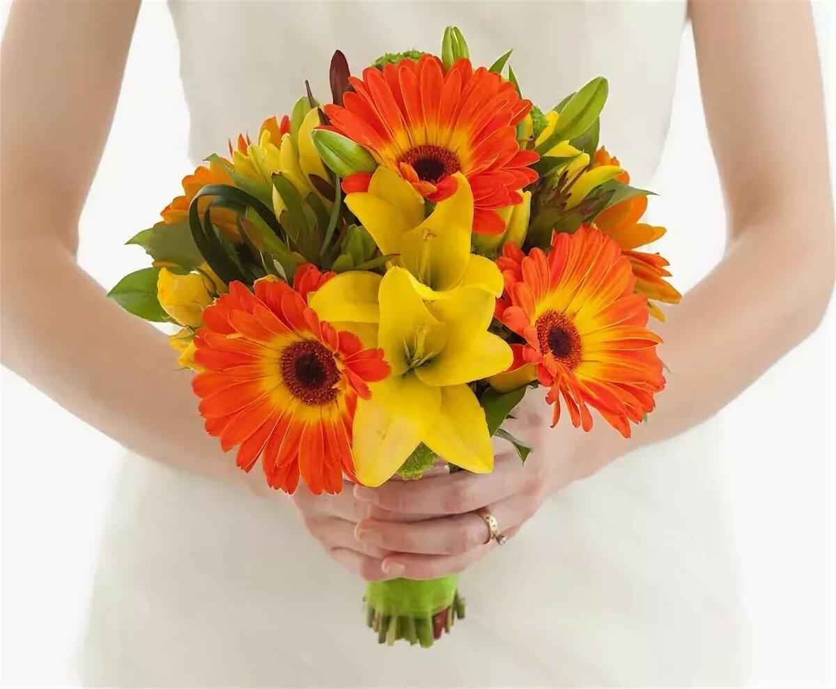 Свадебные букет из гербер, цветов 03132