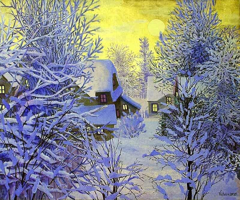 Зимнее утро картинки и рисунки натурально-холодные