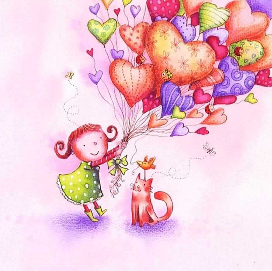 Оптом, нарисовать открытку для девушки с днем рождения