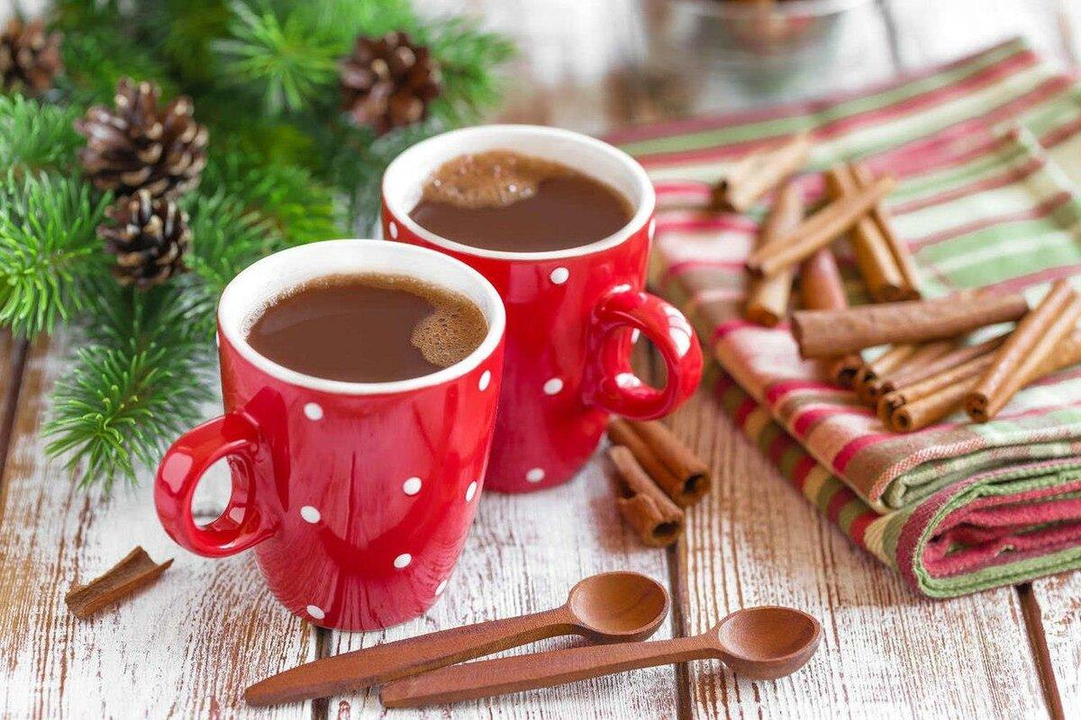 также производим зимние картинки красная кружка с чаем головной