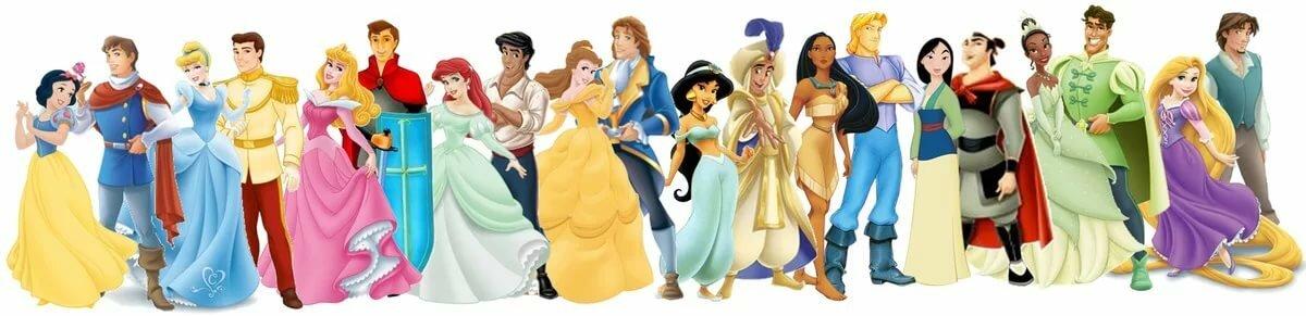 Картинки принца и принцессы дисней