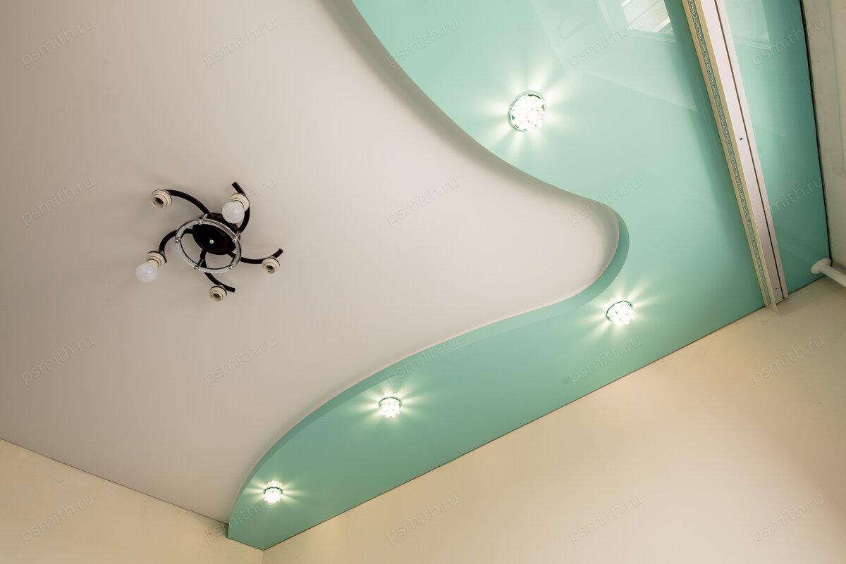простой натяжной потолок картинки муйне