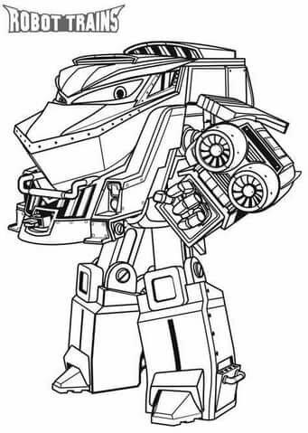 """«Раскраски """"Роботы Поезда"""". Распечатайте онлайн для детей ..."""