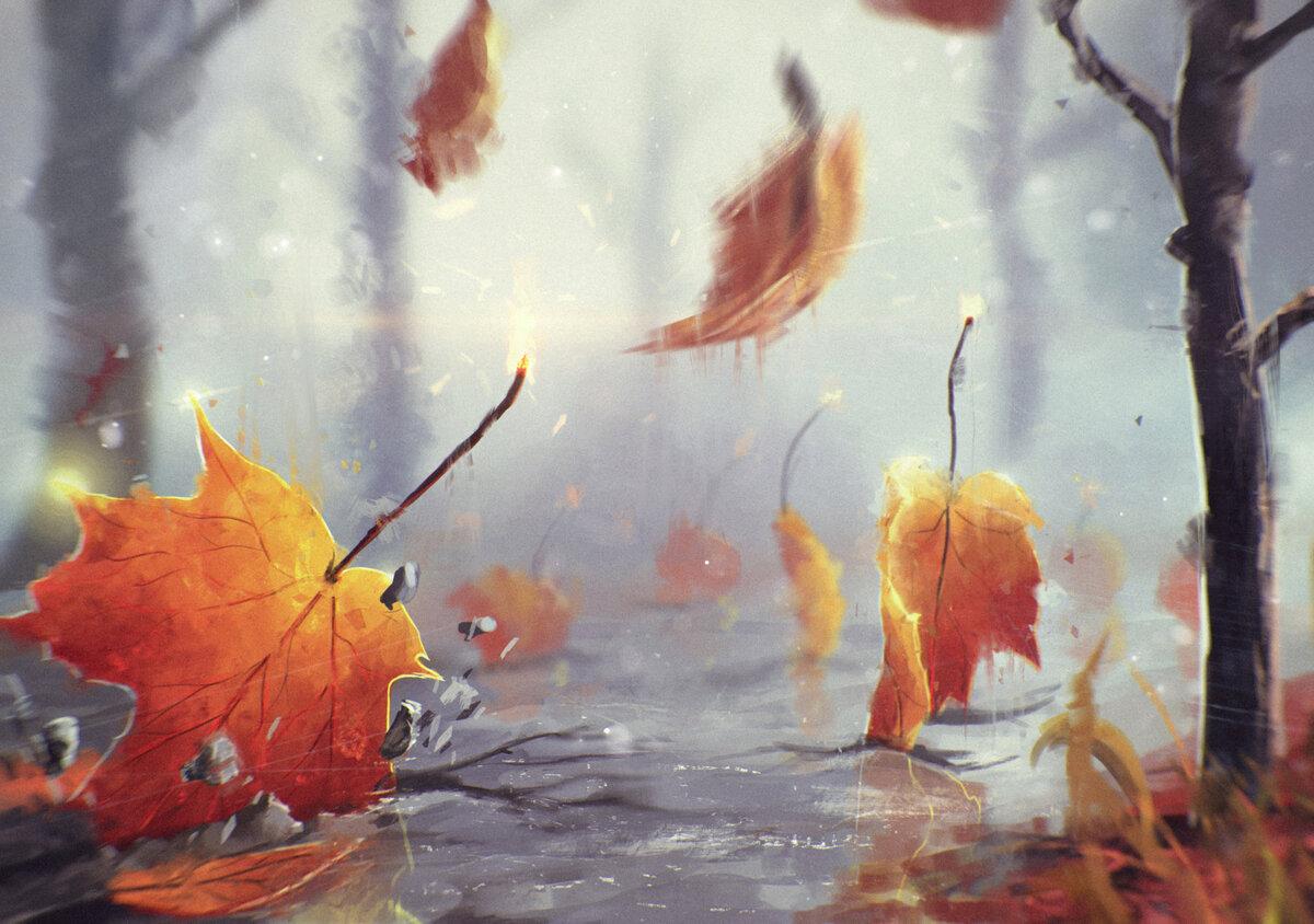 Про, открытки дождливой осени