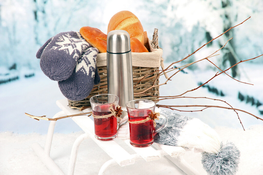Поросенок, картинки пикник на природе зимой