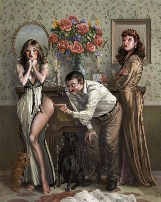 Зрелые супруги веселые картинки распутных баб