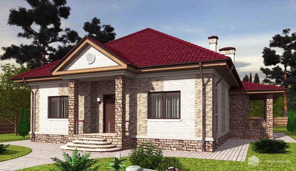 кирпичные одноэтажные дома фото и проекты домов качественная