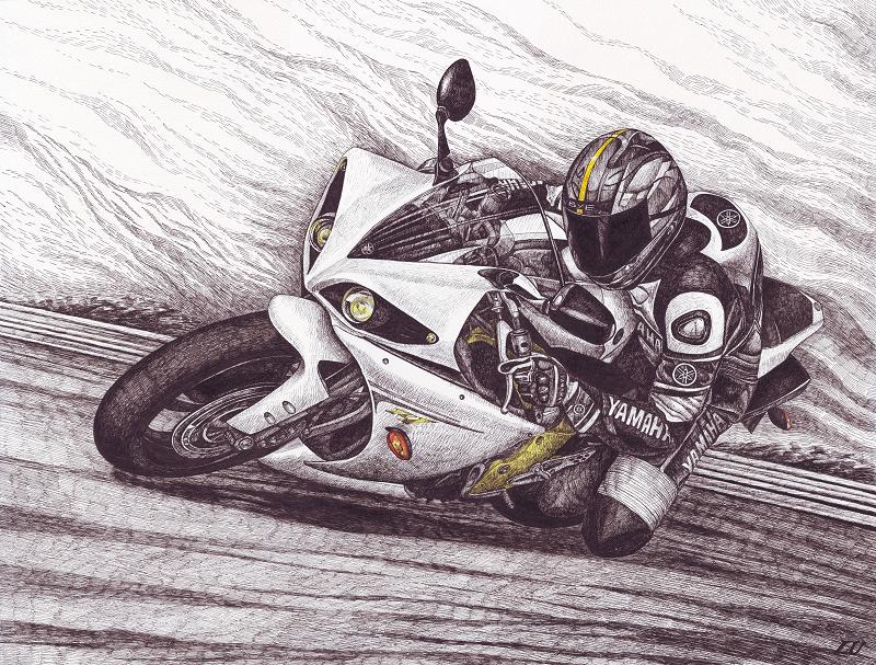 Крутые рисунки на мотоциклах