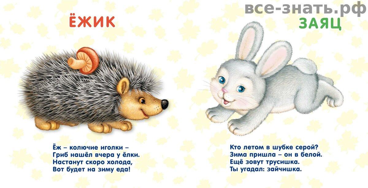 Картинки и стишки детские