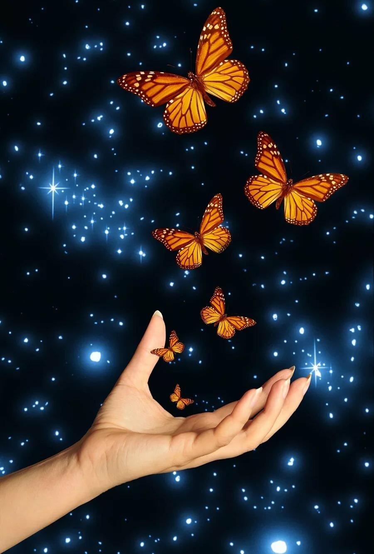 Летием, открытка с вылетающими бабочками