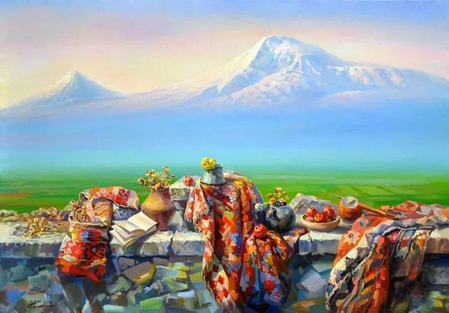 Марта, поздравление с юбилеем на картинке с горой арарат