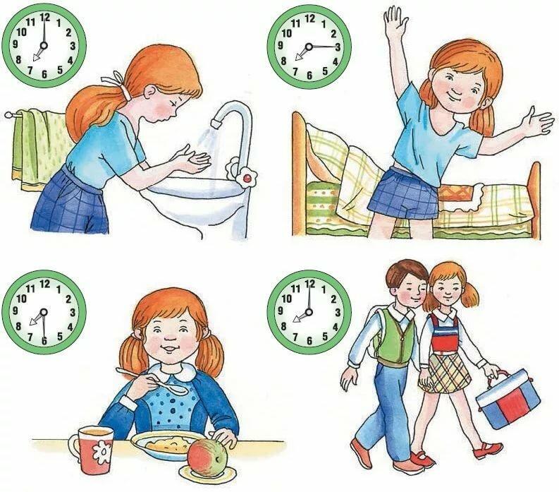 Распорядок дня для первоклассника для девочки в картинках, смешные картинки видео