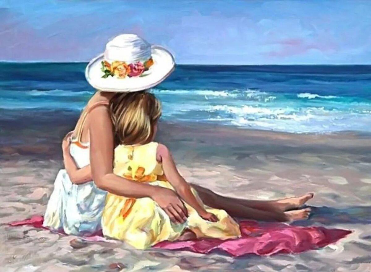 Ммс, открытки на море с семьей
